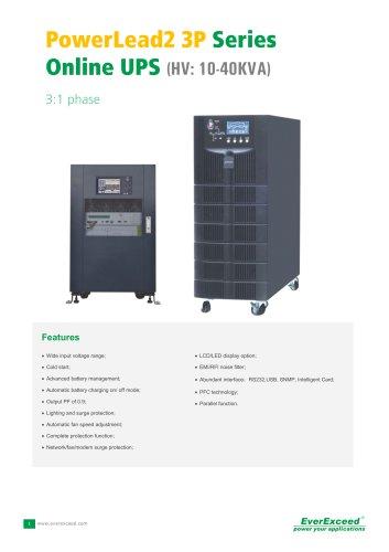 Single phase UPS 10-40KVA PowerLead2 Series