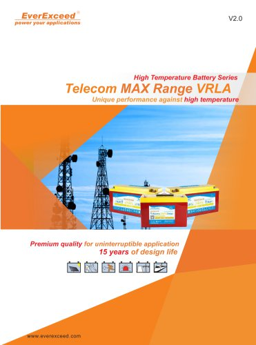 Telecommunications equipment battery TM-12 series