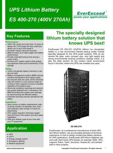 Valve-regulated battery ES400-270