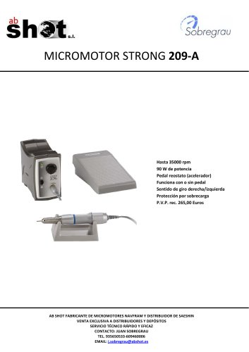 MICROMOTOR STRONG 209A