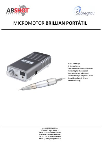 PORTABLE MICRO MOTOR - BRILLIAN