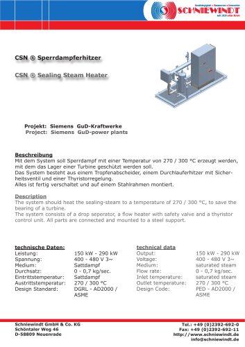 CSN ® Sealing Steam Heater