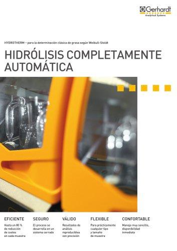 HYDROTHERM - Hidrólisis completamente automática