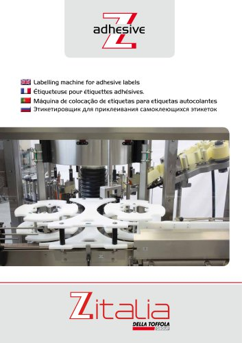 Labelling machine fro adhesive labels