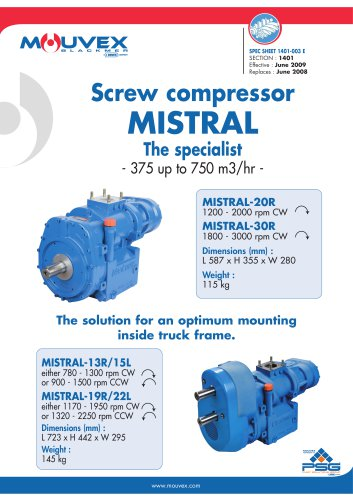 Mistral Screw Compressor