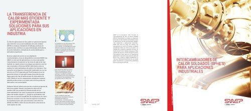 Intercambiadores de calor soldados (bphe's) para aplicaciones industriales