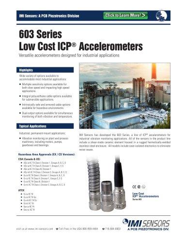 603 Series ICP® Accelerometers (Models [CS][EX]603CXX)