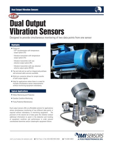 Dual Output Vibration Sensors