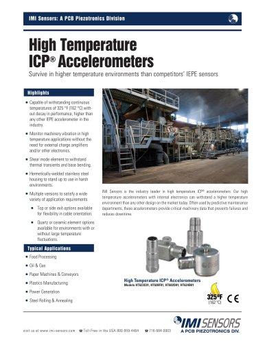 High Temperature ICP® Accelerometers (Models HT602D01, HT622A01, HT623C01, HT624B01, HT625B01, HT628F01)