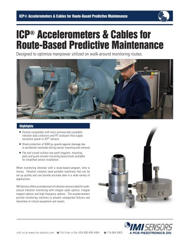 ICP® Accelerometers & Cables for Route-Based Predictive Maintenance
