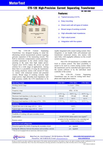 Current transformer CTS-120