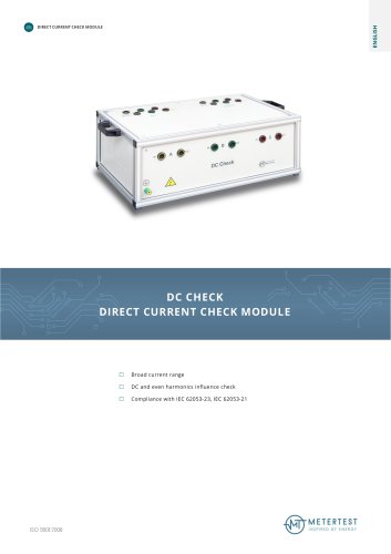 DC CHECK DIRECT CURRENT CHECK MODULE