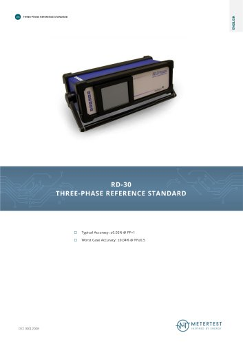 RD-30 THREE-PHASE REFERENCE STANDARD