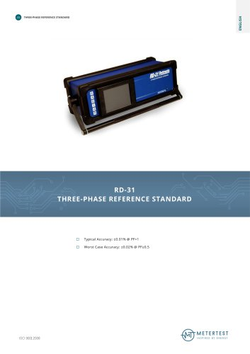 RD-31 THREE-PHASE REFERENCE STANDARD