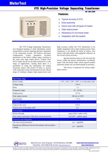 Voltage transformer VTS