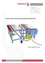 B08. technical data, BH - man. bending machine, march 2013