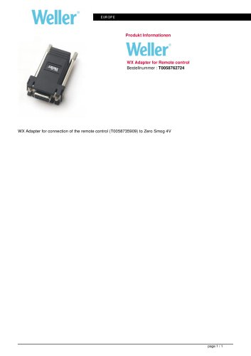 WX adapter for remote control