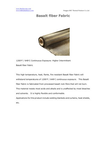 BSTFLEX Basalt fiber Fabric for high temperature resistant