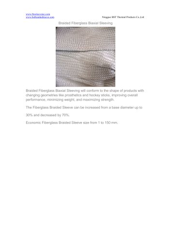 BSTFLEX Braided Fiberglass Biaxial Sleeving for heat protection