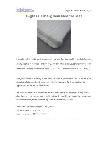 BSTFLEX E-glass Fiberglass Needle Mat for heat protection