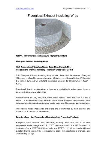 BSTFLEX Fiberglass Exhaust Insulating Wrap