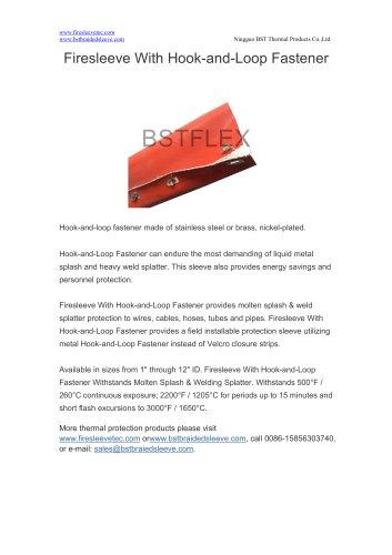 BSTFLEX heat resistant Firesleeve With Hook-and-Loop Fastener