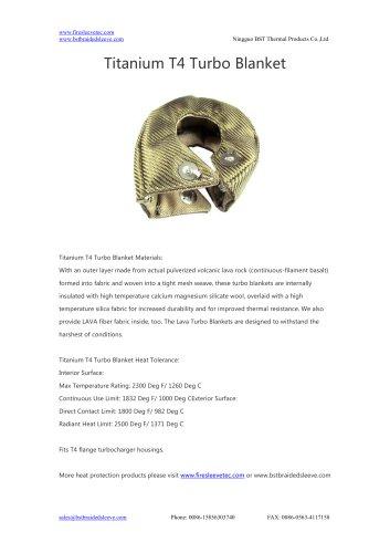 BSTFLEX heat shield Titanium T4 Turbo Blanket