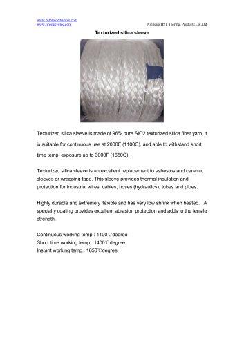 BSTFLEX high temperature resistant Texturized silica sleeve