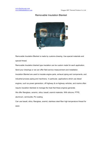 BSTFLEX Muffler Removable Insulation Blanket for high temperature protection