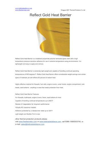 BSTFLEX Reflect Gold Heat Barrier heat shield sheet & mat