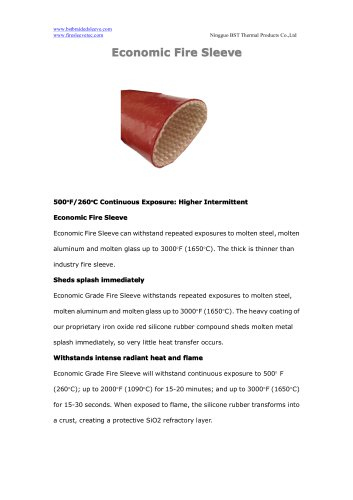 BSTFLEX silicone fiberglass Economic Fire Sleeve for hydraulic hoses high temperature protection