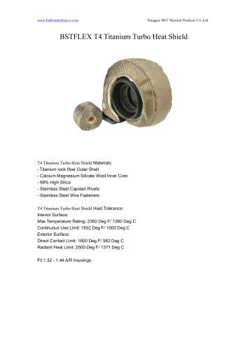 BSTFLEX T4 Titanium Turbo Heat Shield