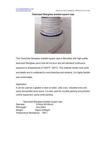 BSTFLEX Texturized fiberglass braided square rope