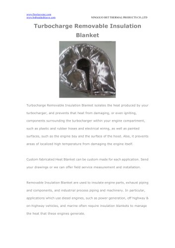 BSTFLEX Turbocharge Removable Insulation Blanket for heat shield