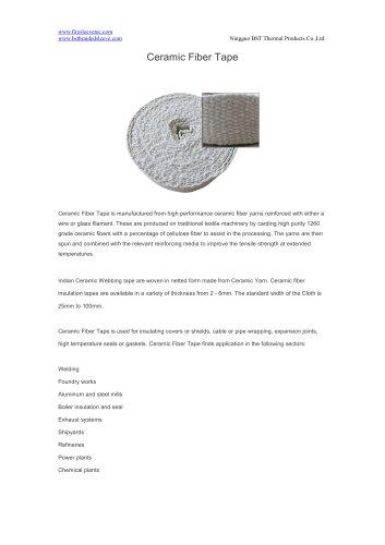BSTFLEX woven ceramic fiber tape for heat protection