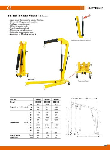 Foldable Shop Crane SC B series