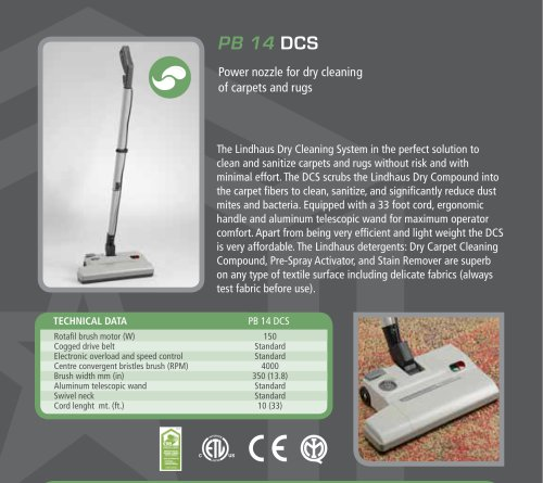 PB14 DCS POWER NOZZLE FOR DRY CLEANING