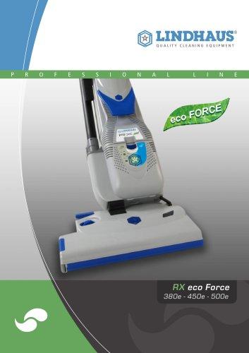 RX eco FORCE 380e - 450e - 500e Ultra strong dual motor upright vacuum