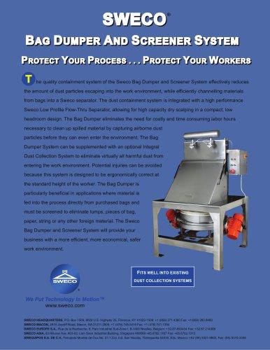 SWECO® BAG DUMPER AND SCREENER SYSTEM