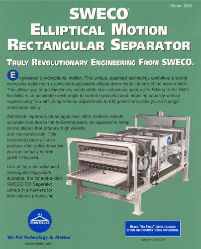 Sweco Elliptical Motion Rectangular Separator