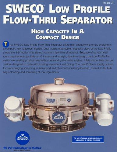 Sweco Low Profile Flow-Thru Separator