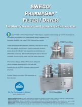Sweco PharmASep Filter Dryer