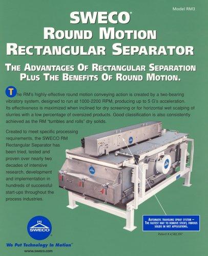 Sweco Round Motion Rectangular Separator