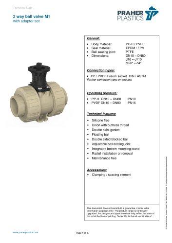 2 way ball valve M1