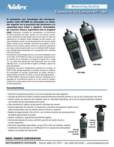 DT-105A ( LCD ) de contacto Tacómetros