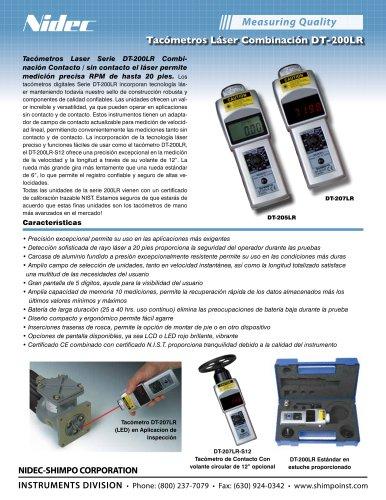 DT-207LR (LED) Combinación de contacto/sin contacto láser Tacómetros