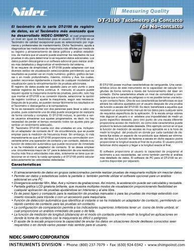 DT-2100 Tacómetro de Contacto /de No-contacto