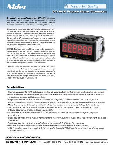 DT-501X Proceso Metro Tacometro