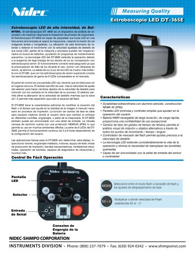 Estroboscopio LED DT-365E