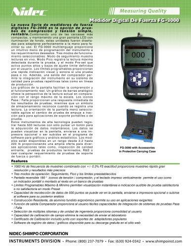 FG-3000 Digital Medidor de Fuerza